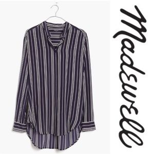 NWT [Madewell] Silk Striped Tunic Blouse